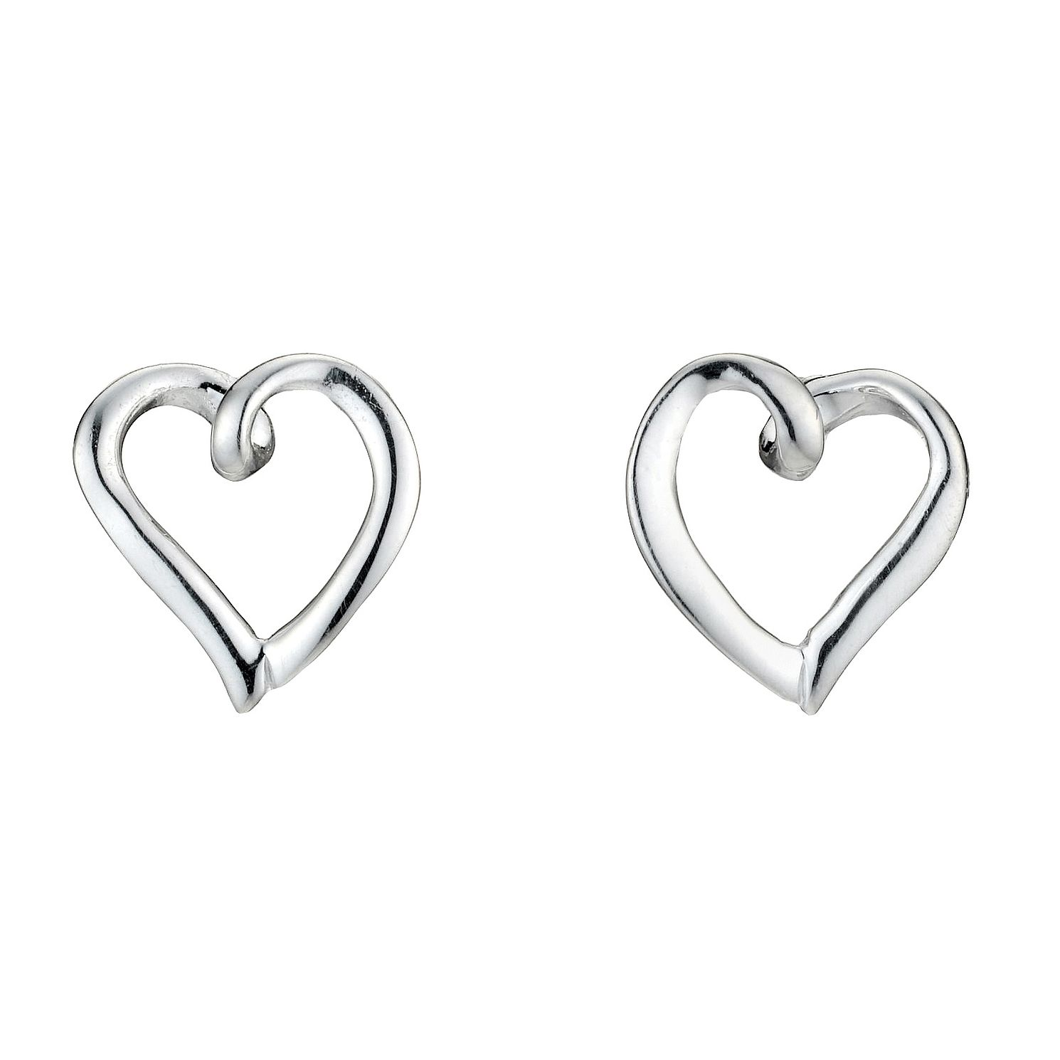 Sterling Silver Heart Earrings - Product number 8189846