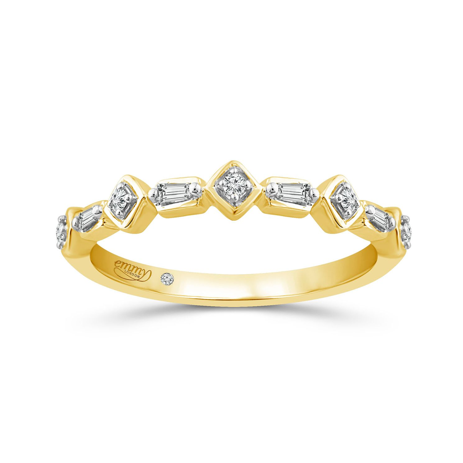 Emmy London 9Ct Yellow Gold Fancy 0.07Ct Diamond Band - Product number 8192901