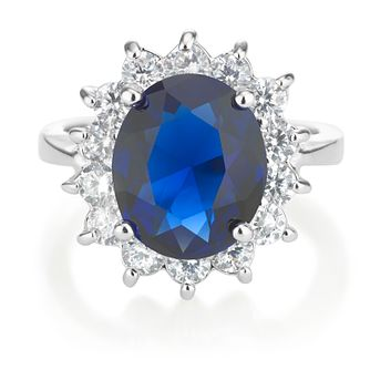 Buckley London Catherine Royal Blue Silver Ring - Size O - Product number 8193517