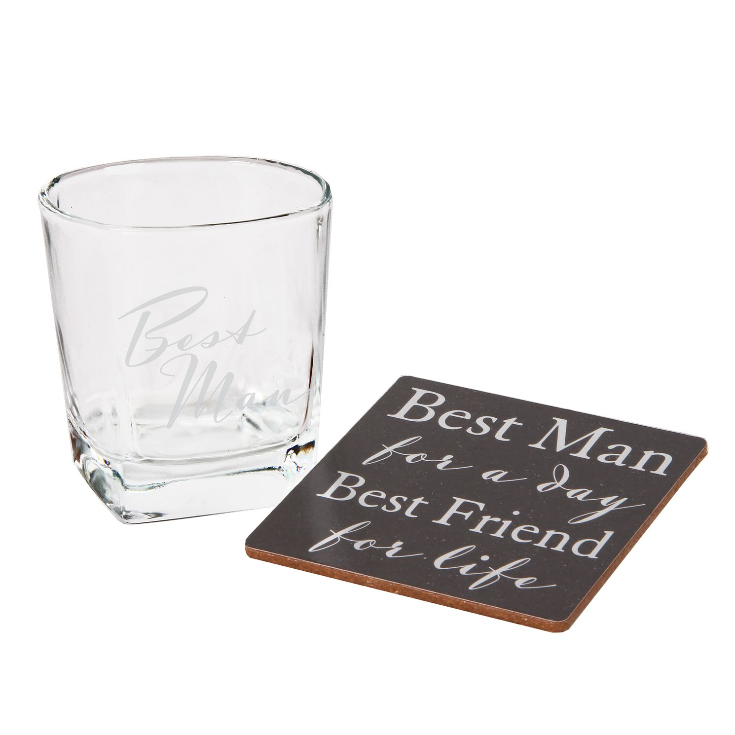 Amore Best Men's Whisky Glass and Coaster Set - Product number 8193673