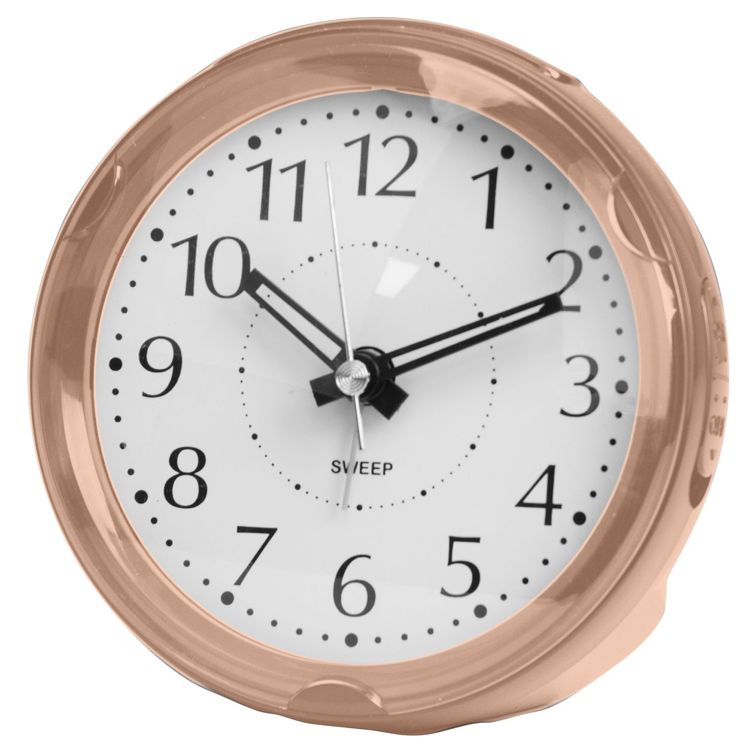WM. Widdop Rose Gold Tone Round Mantle Alarm Clock - Product number 8193797