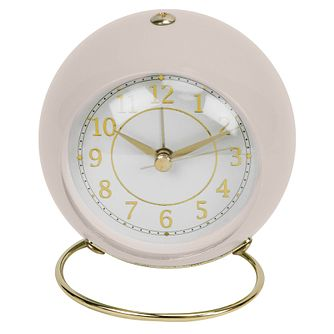 WM. Widdop Pastel Pink Round Mantle Alarm Clock - Product number 8193800