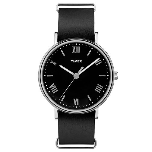 Timex Men's Southview Black Leather Strap Watch - Product number 8194513