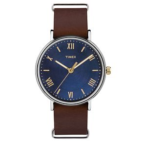 Timex Men's Southview Brown Leather Strap Watch - Product number 8194521