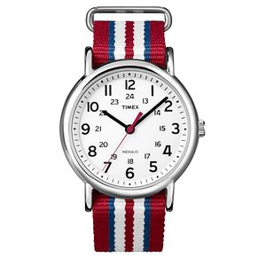 Timex Men's Weekender Multi-Coloured Nylon Strap Watch - Product number 8195234