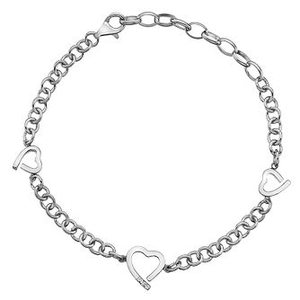 Hot Diamonds Silver Three Hearts Bracelet - Product number 8195560