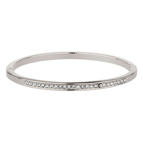 Mikey Silver Tone Cubic Zirconia Bangle - Product number 8195706