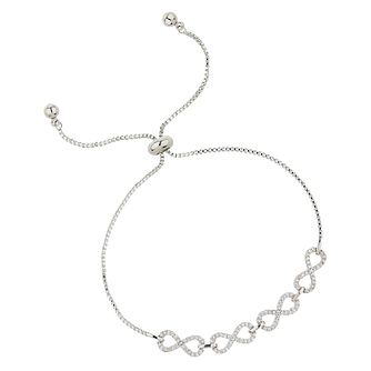 Mikey Infinity Silver Tone Cubic Zirconia Bracelet - Product number 8195749