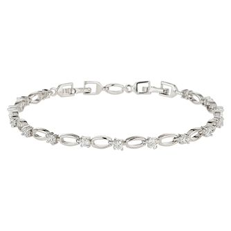 Mikey Silver Tone Cubic Zirconia Tennis Bracelet - Product number 8195757