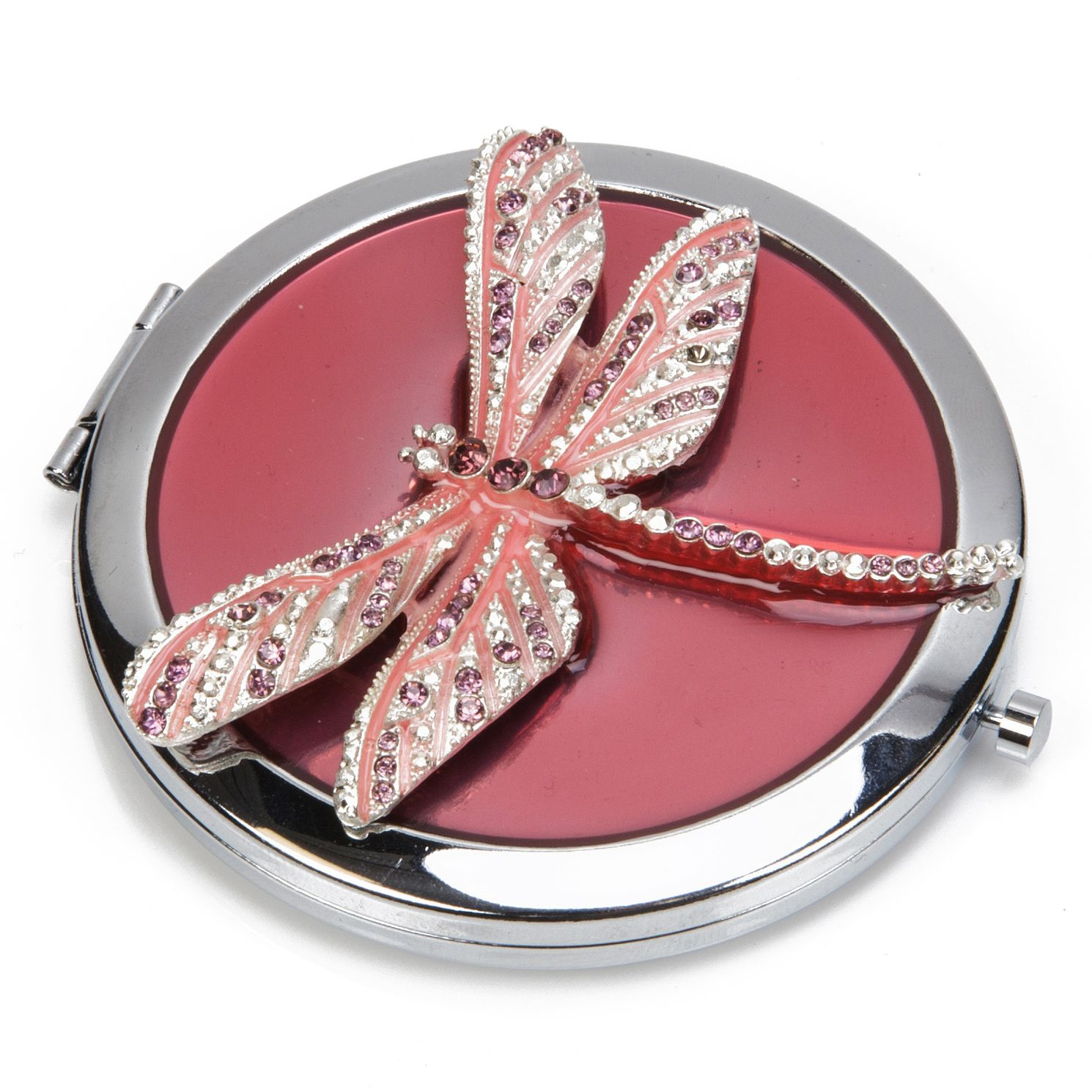 Crystal Dragonfly Purple Compact Mirror - Product number 8196494