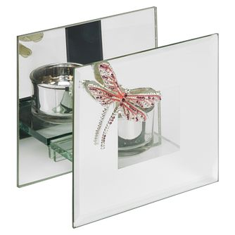 Crystal Dragonfly Pink Glass Tealight Holder - Product number 8196605