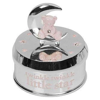 Bambino Pink Teddy Bear Crystal Music Box Ornament - Product number 8196621