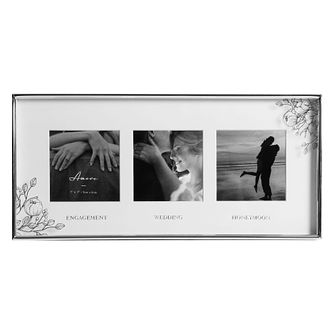 Amore Engagement, Wedding, Honeymoon Triple Photo Frame - Product number 8196745