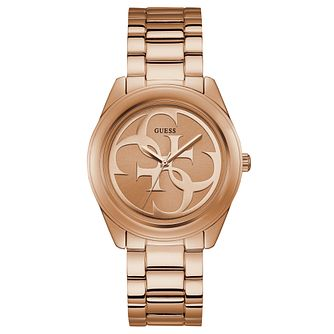 Guess G-Twist Ladies' Rose Gold Tone Bracelet Watch - Product number 8197253