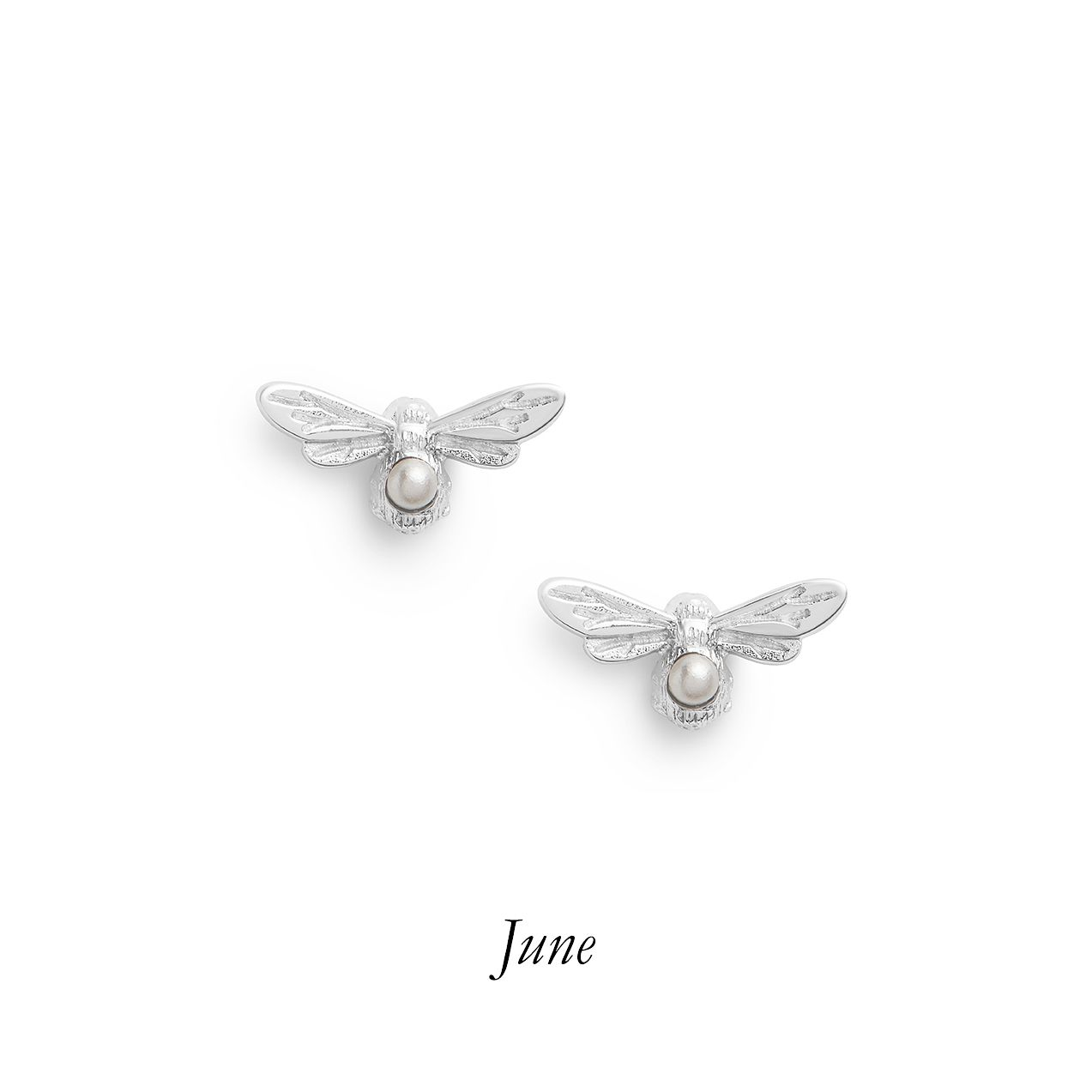 Olivia Burton Lucky Bee Silver Faux Pearl Stud Earrings - Product number 8197326