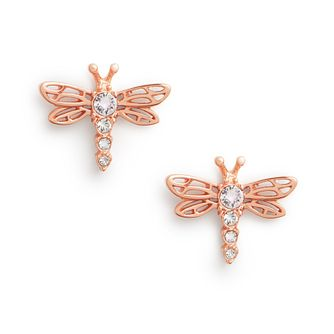 Olivia Burton Dancing Dragonfly Rose Gold Tone Stud Earrings - Product number 8197350