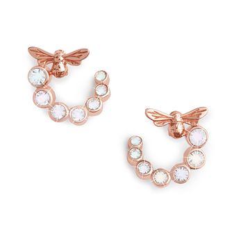 Olivia Burton Bejewelled Bee Rose Gold Tone Hoop Earrings - Product number 8197377