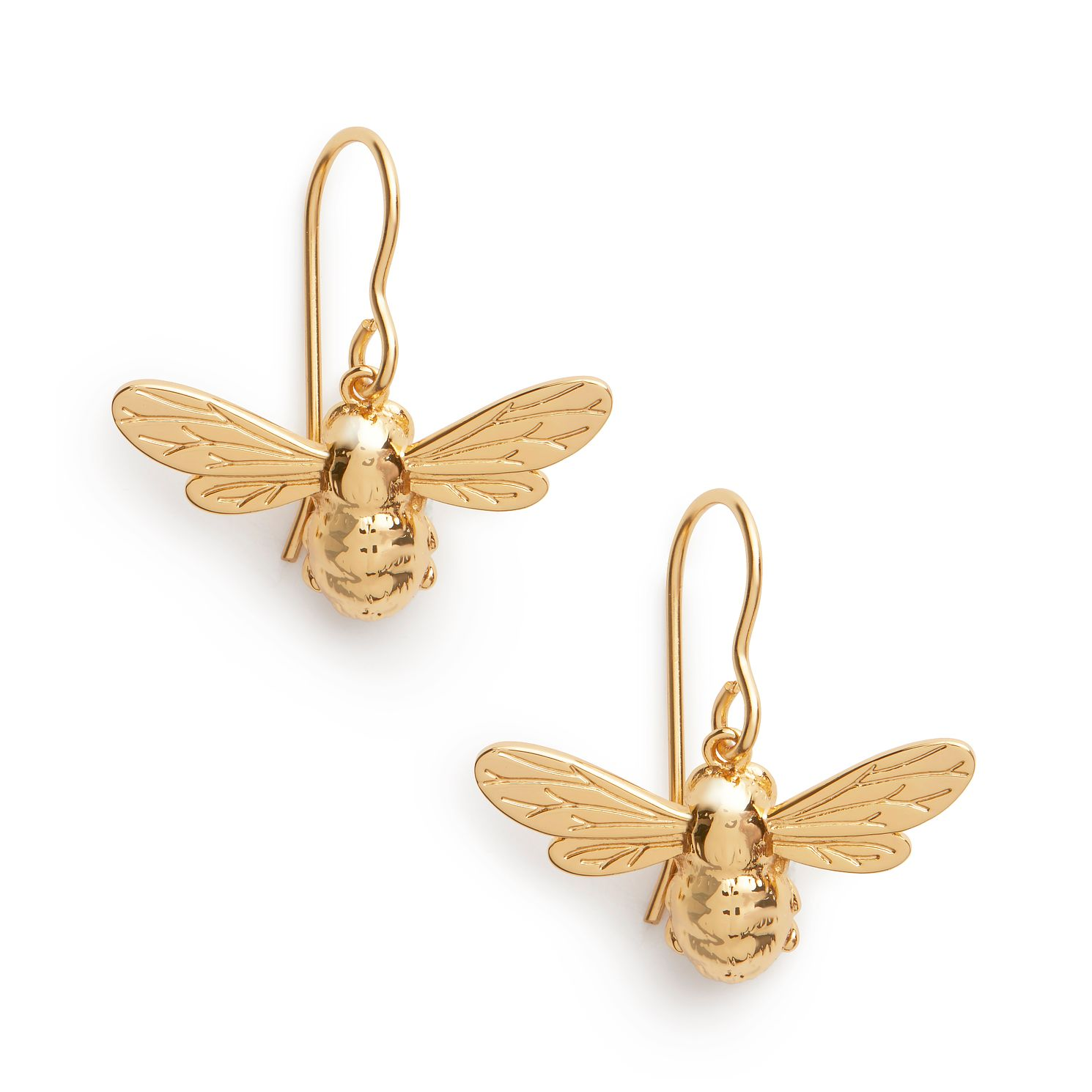 Olivia Burton Lucky Bee Rose Gold Tone Drop Earrings - Product number 8199345