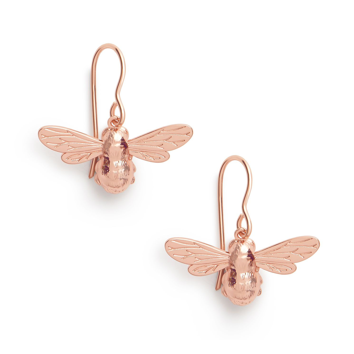 Olivia Burton Lucky Bee Rose Gold Tone Sleeper Earrings - Product number 8199426