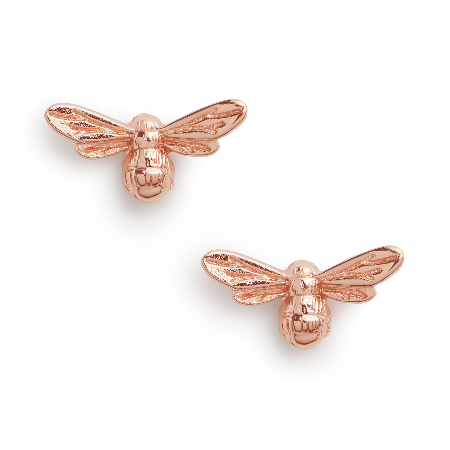 Olivia Burton Lucky Bee Rose Gold Tone Stud Earrings - Product number 8199469