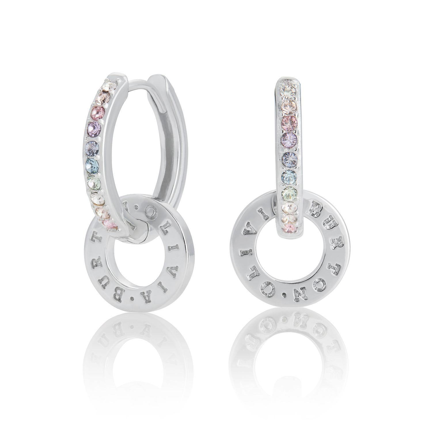 Olivia Burton Classics Rainbow Silver Hoop Earrings - Product number 8199655