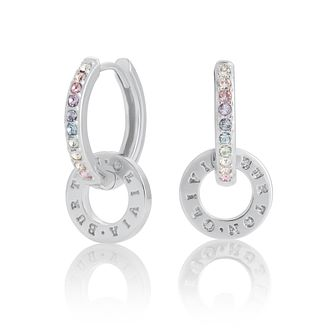 Olivia Burton Classics Rainbow Silver Logo Huggie Earrings - Product number 8199655