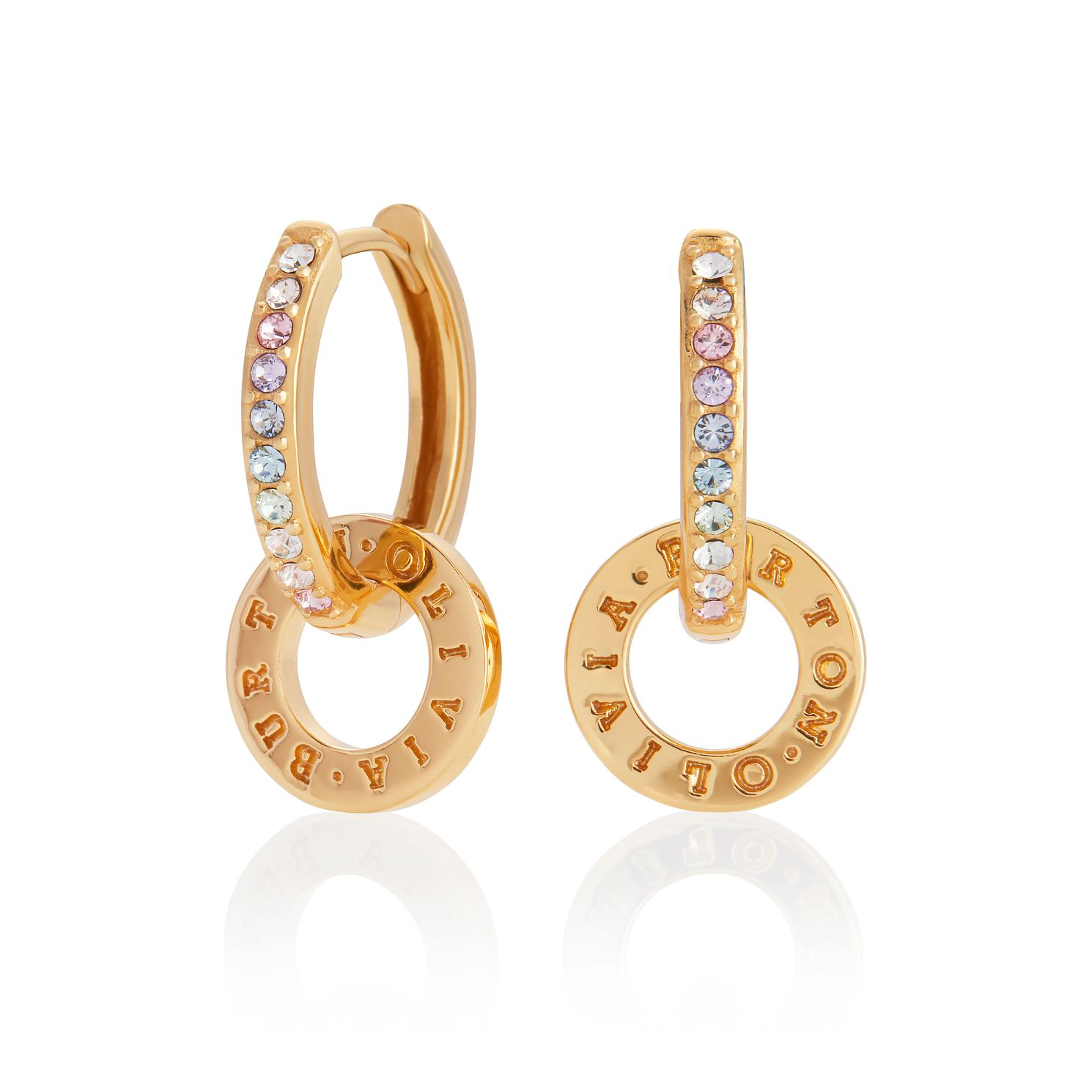 Olivia Burton Classics Rainbow Gold Tone Hoop Earrings - Product number 8199663