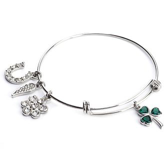 Cailin Cubic Zirconia Clover & Wing Bangle - Product number 8199736