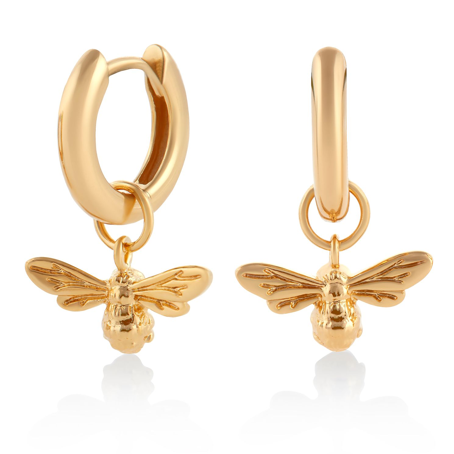 Olivia Burton Gold Plated Silver Lucky Bee Huggie Earrings - Product number 8199906