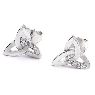 Cailin Silver Cubic Zirconia Trinity Earrings - Product number 8200041