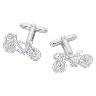 Men's Polished Bicycle Cufflinks - Product number 8200254