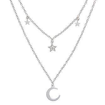 Olivia Burton Celestial Rhodium Plated Double Chain Necklace - Product number 8200572