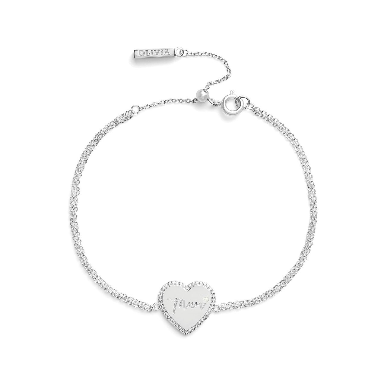 Olivia Burton Made for Mum Rhodium Plated Bracelet - Product number 8208417