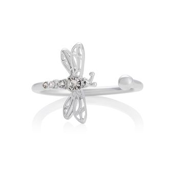 Olivia Burton Dancing Dragonfly Crystal Rhodium Plated Ring - Product number 8208492