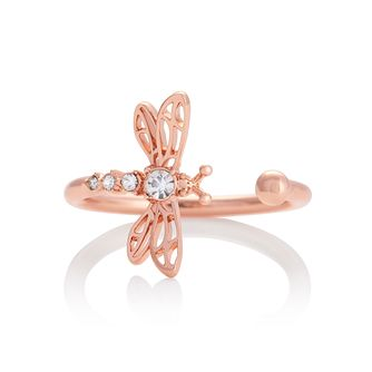 Olivia Burton Dancing Dragonfly Rose Gold Tone Ring - Product number 8208506