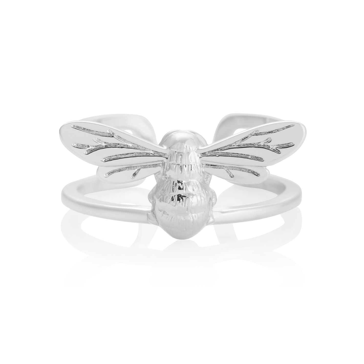 Olivia Burton Lucky Bee Rhodium Plated Ring - Product number 8208514