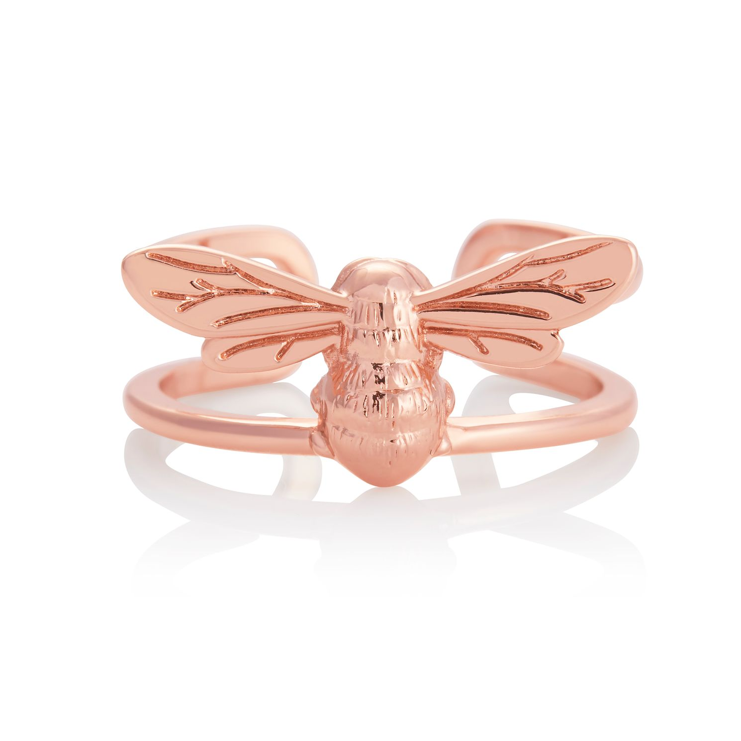 Olivia Burton Lucky Bee Rose Gold Tone Ring - Product number 8208549