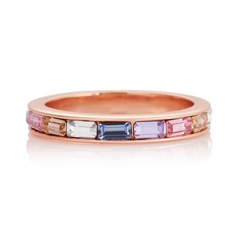 Olivia Burton Rainbow Baguette Rose Gold Tone Ring - M - Product number 8208603