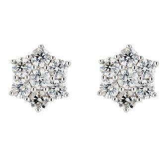 18ct Yellow Gold Daisy Diamond Stud Earrings - Product number 8208638