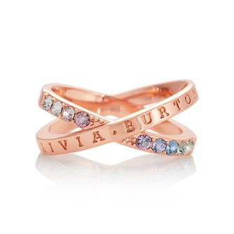 Olivia Burton Classics Rainbow Rose Gold Tone Crystal Ring - Product number 8208719