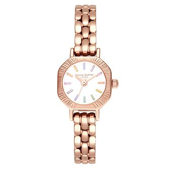 Olivia Burton Rainbow Ladies' Rose Gold Tone Bracelet Watch - Product number 8208786