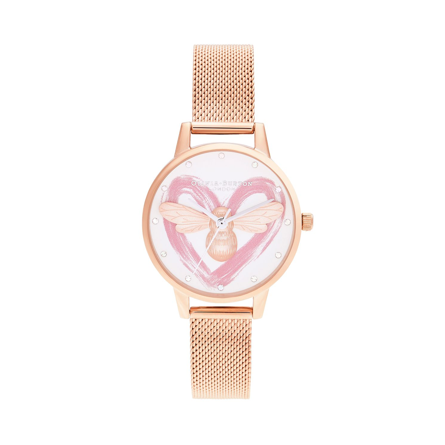 Olivia Burton You Have My Heart Gold Tone Bracelet Watch - Product number 8208824
