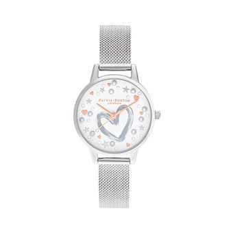 Olivia Burton You Have My Heart Silver Tone Bracelet Watch - Product number 8208913