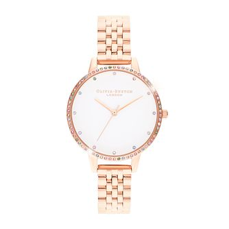 Olivia Burton Rainbow Bezel Rose Gold Tone Bracelet Watch - Product number 8208972