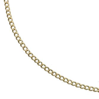 9ct Yellow Gold Small Curb Necklace - Product number 8214247