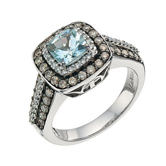 Le Vian 14ct Gold Sea Blue Aquamarine & 0.76ct Diamond Ring - Product number 8215286