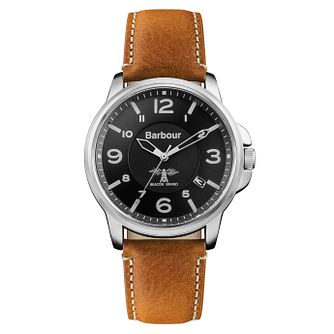 Barbour Barnard Men's Black Stainless Steel Strap Watch - Product number 8216193