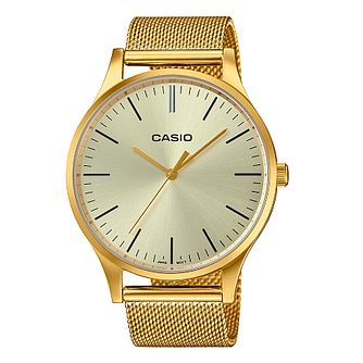 Casio Men's Gold Tone Stainless Steel Bracelet Watch - Product number 8216444