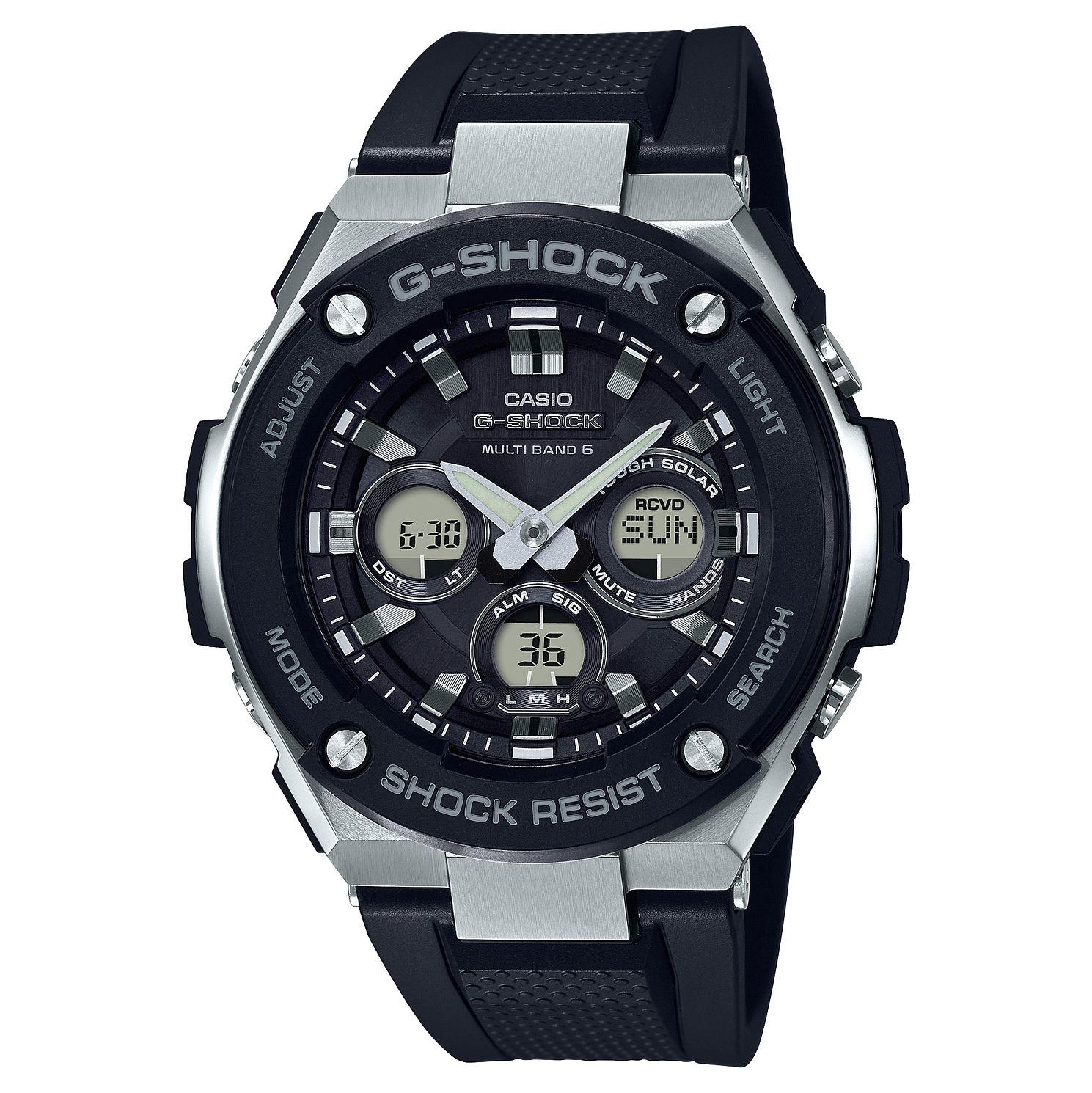 Casio G-Shock G-Steel Men's Black Rubber Strap Watch - Product number 8216509