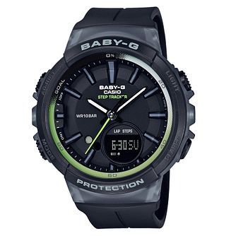 Casio Baby-G Ladies' Tracker Black Resin Strap Watch - Product number 8216568